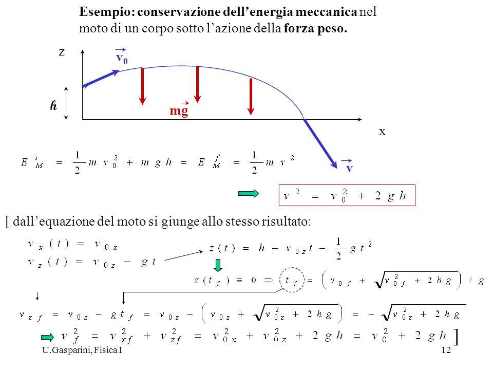 ] Esempio: conservazione dell'energia meccanica nel